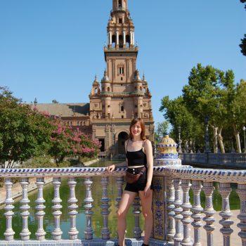 Susanna at Seville's Plaza de España