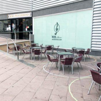 Social Distancing at a cafe