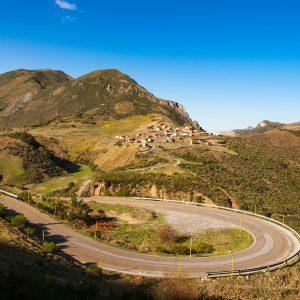 A winding road in Somiedo.