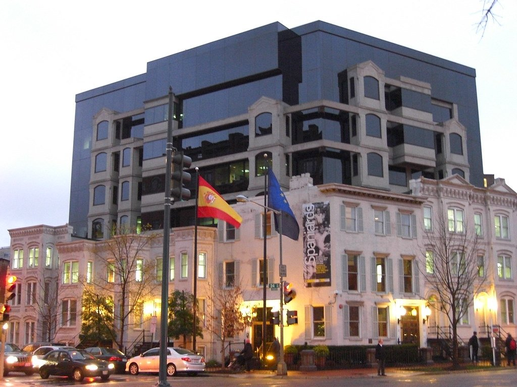 The Spanish Embassy in Washington, D.C., which Sarah visited to apply for her visa in Spain.