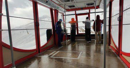 The very large St. Moritz gondola.