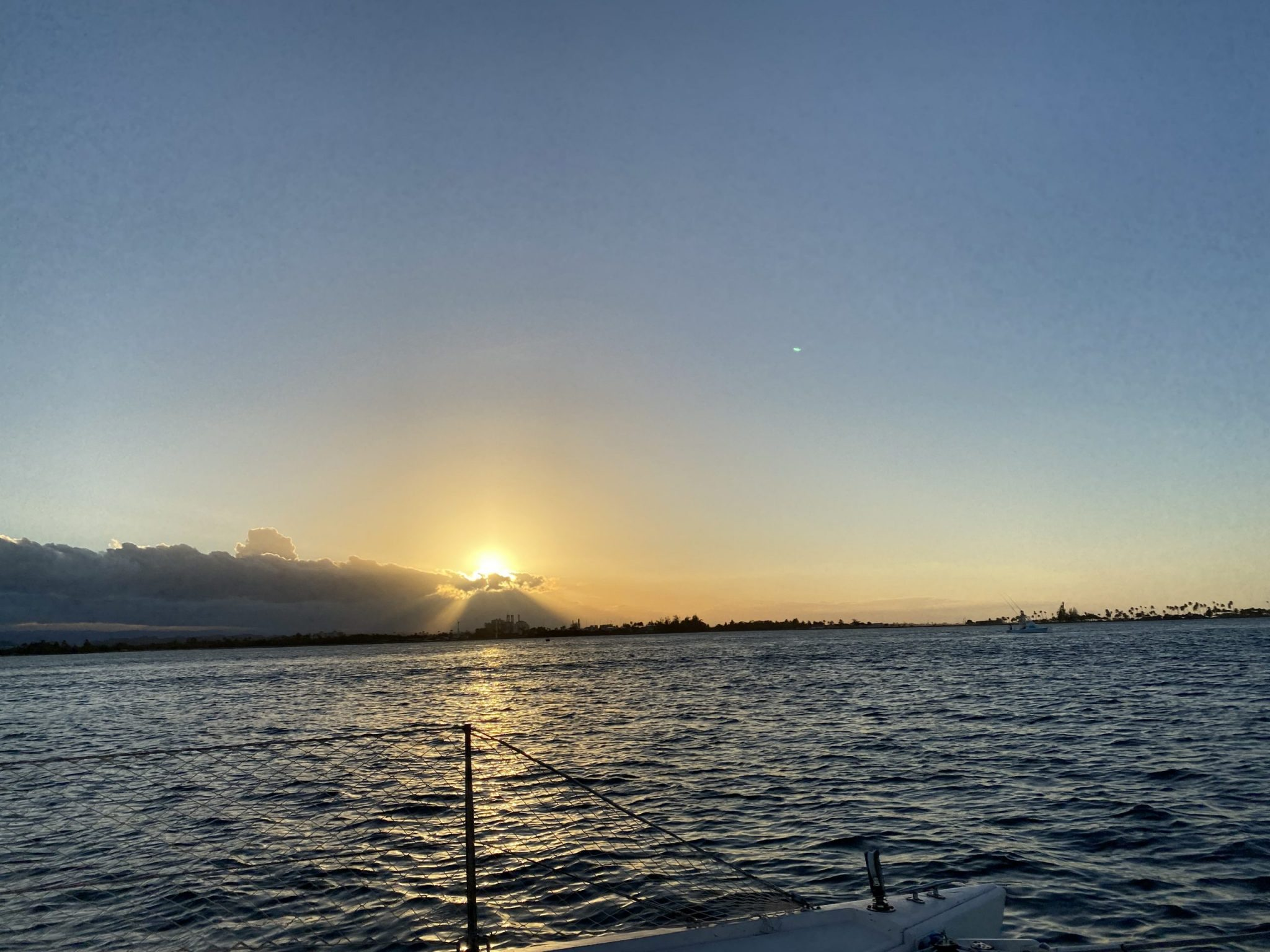 Watch the sun set over the water from old San Juan.