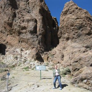 Kristen exploring Teide National Park on the Canary Islands