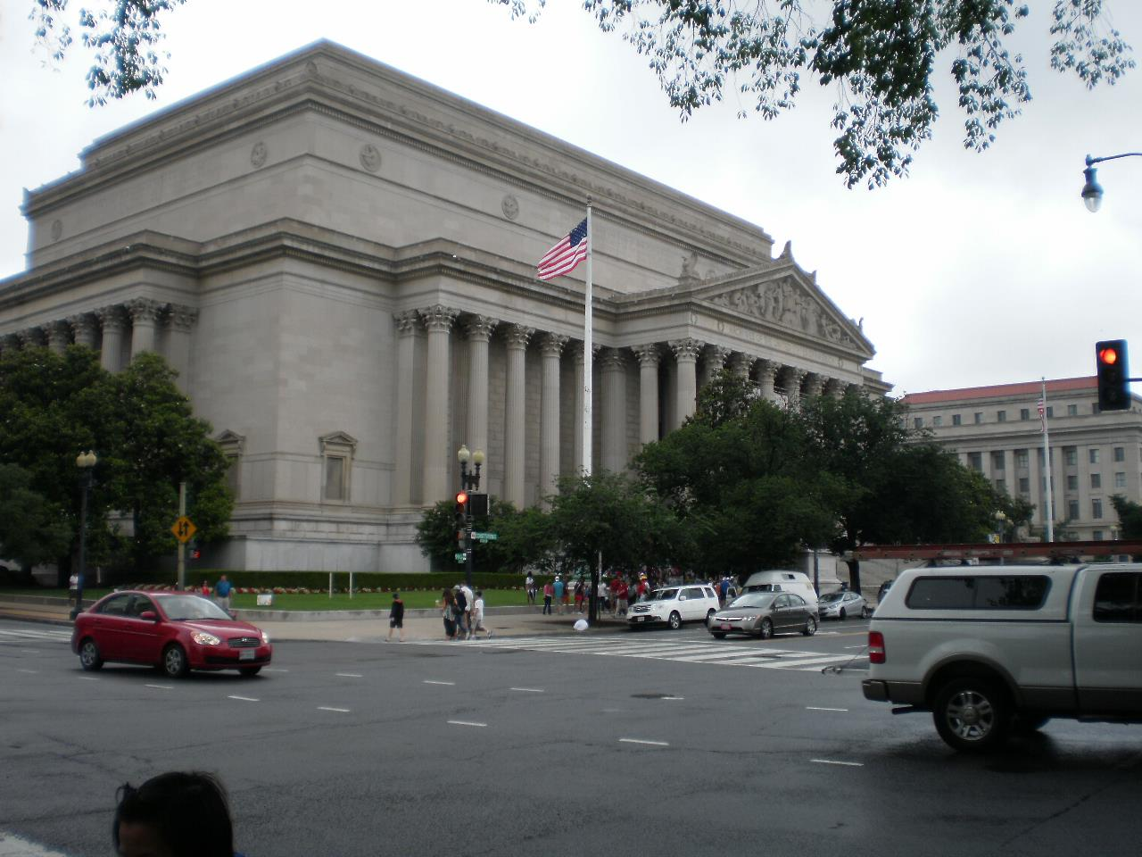 A picture of the National Archives building in Washington D.C. that Sarah took while applying for her visa in Spain.