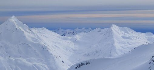 The Italian Alps, which Adam had a good view of while skiing in Switzerland.