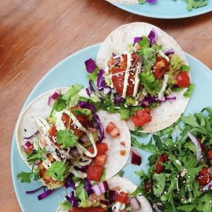 Tierra's mini vegan tacos make for a scrumptious lunch.