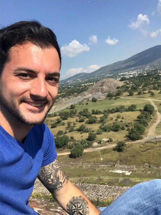 Tyler Black at Teotihuacán tour