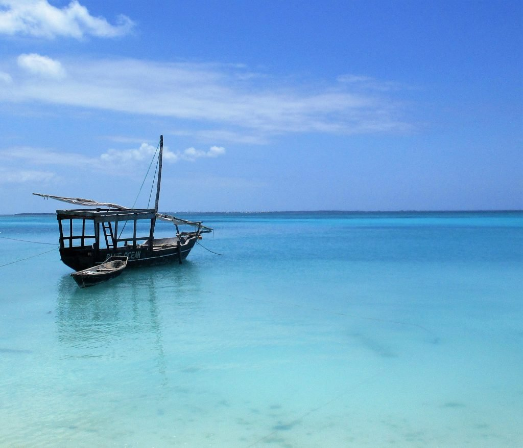 An old boat on the coast of Zanzibar