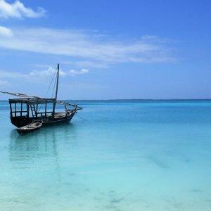 An old boat on the coast of Zanzibar