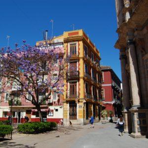The bright colors of Valencia city