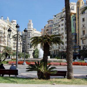 Fountains in Valencia city