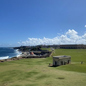 The view from the San Felipe del Morro Castle, one of the many things to do in San Juan