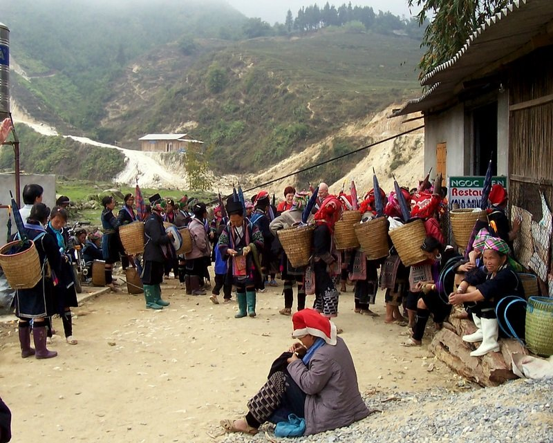 A photo of some of the village deliveries