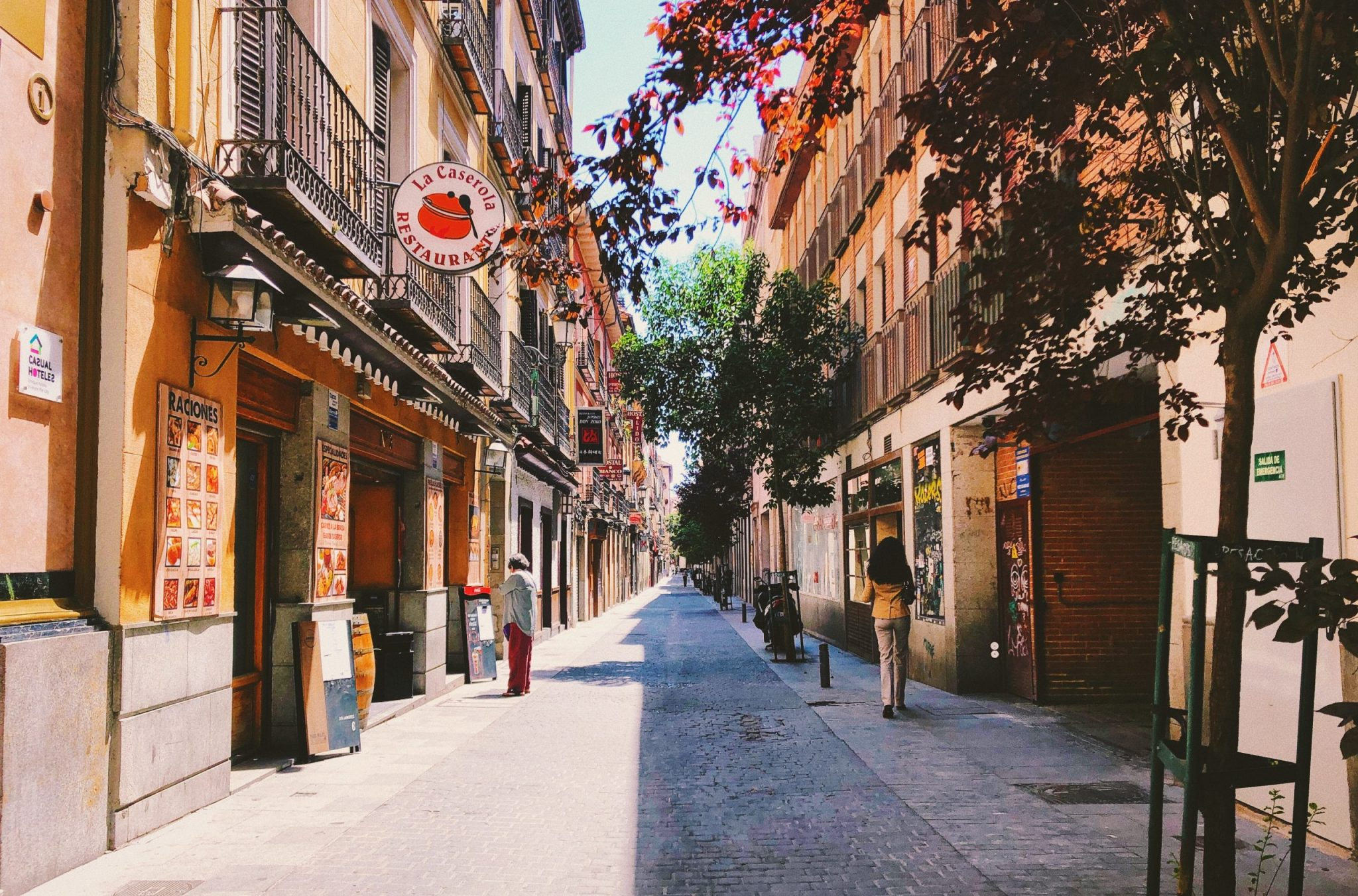 A photo of one of the streets of Madrid, where Timisha moved to Spain.