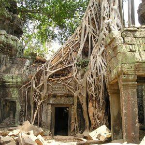Ancient Angkor Wat in Cambodia.
