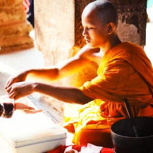 A monk in Angkor Wat, Cambodia