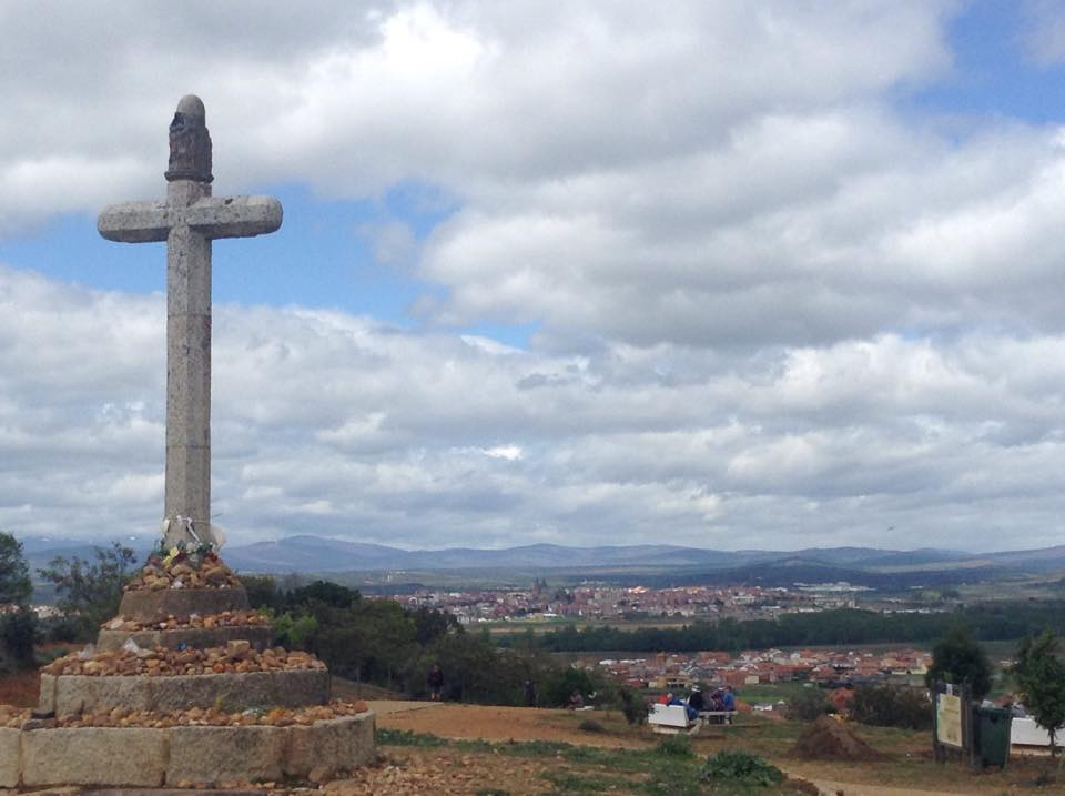 An Overlooking view of the town of Astorga, off the Camino de Santiago
