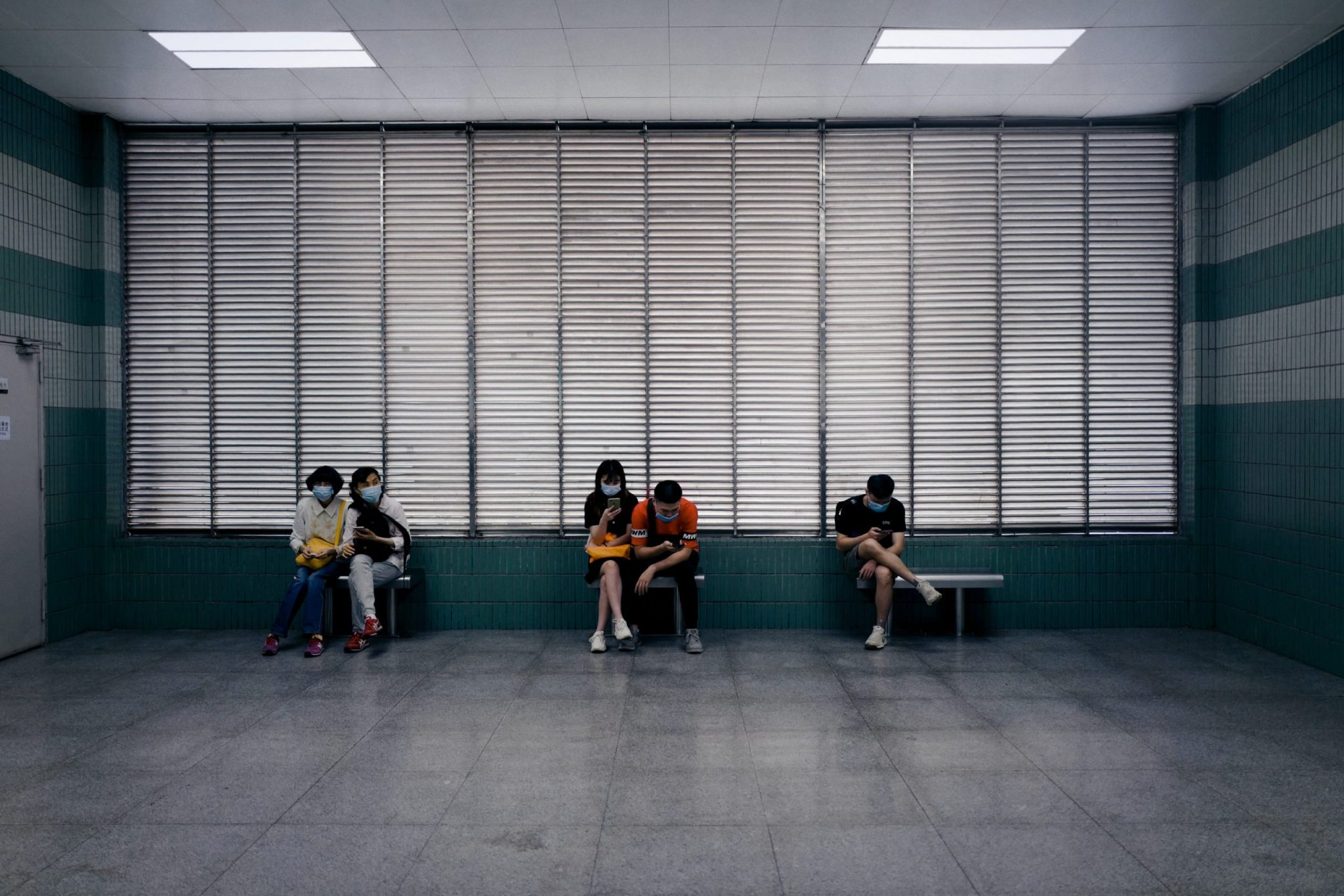 A waiting room during COVID-19