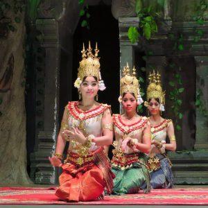 A traditional celebration in Cambodia.