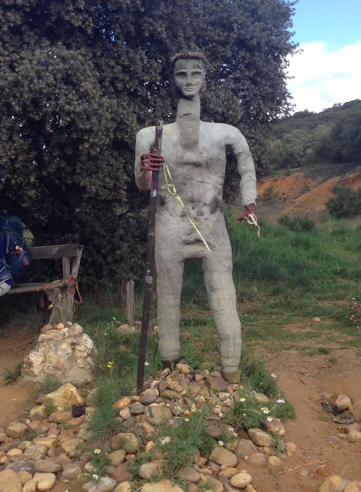 A statue off the Camino de Santiago