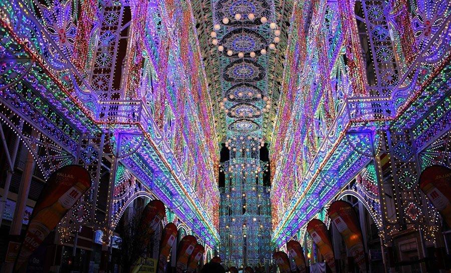 christmas spain iluminadas valence