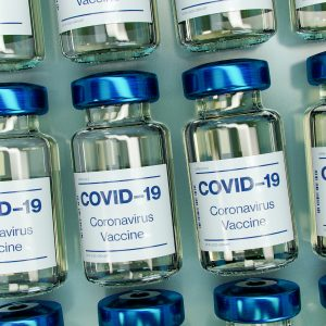 Rows of COVID-19 vaccines
