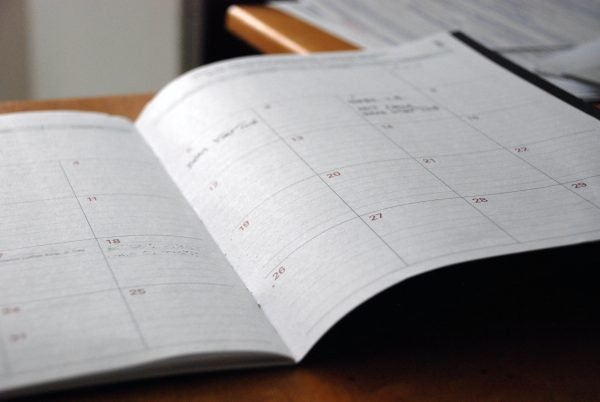 Photo of a day planner