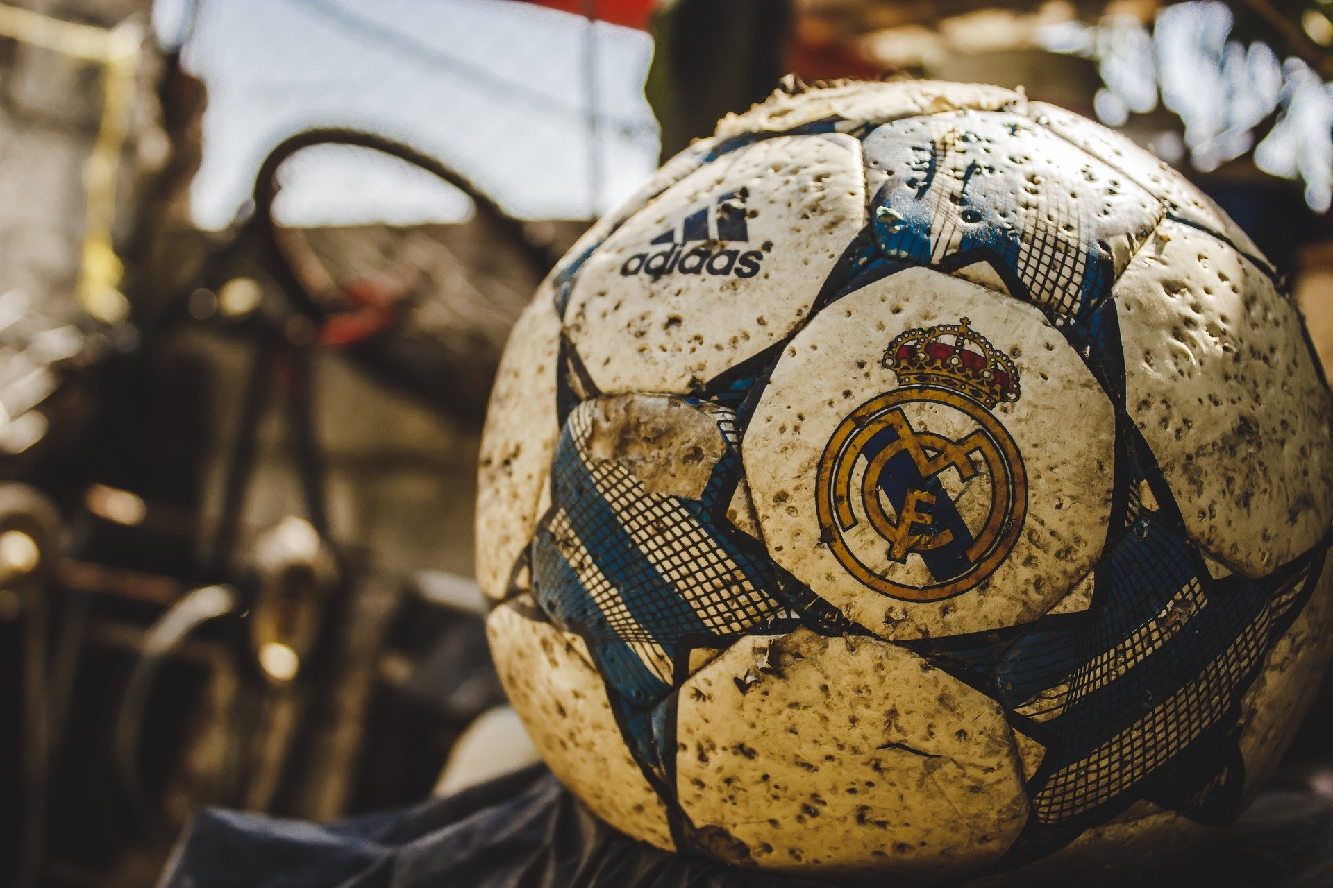 A used soccer ball