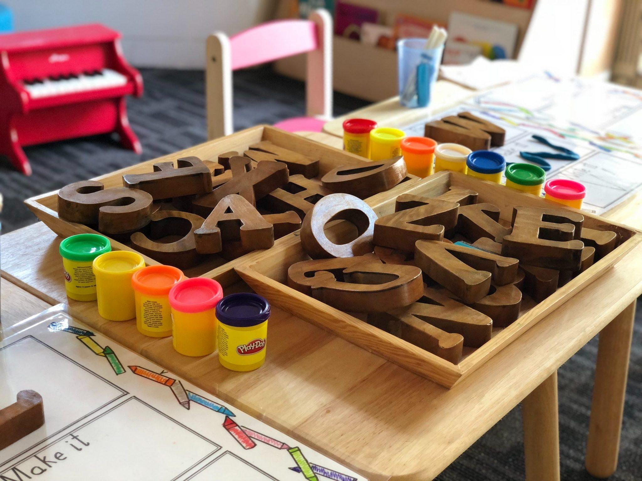 A photo of pre-school supplies