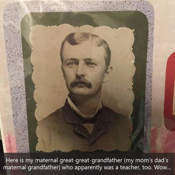 Caroline Hazelton's great great grandfather