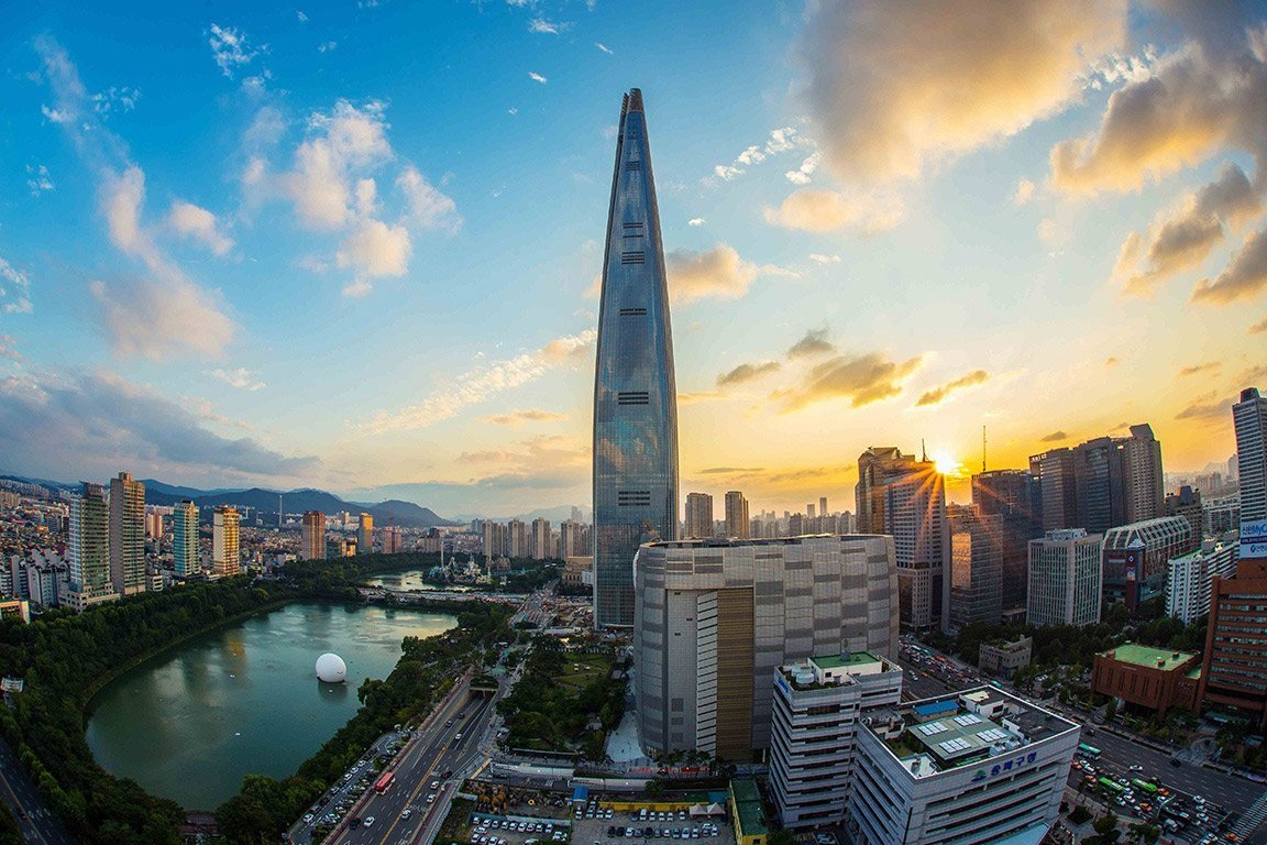 South Korea is a great place to teach English abroad, especially for city skyline views.