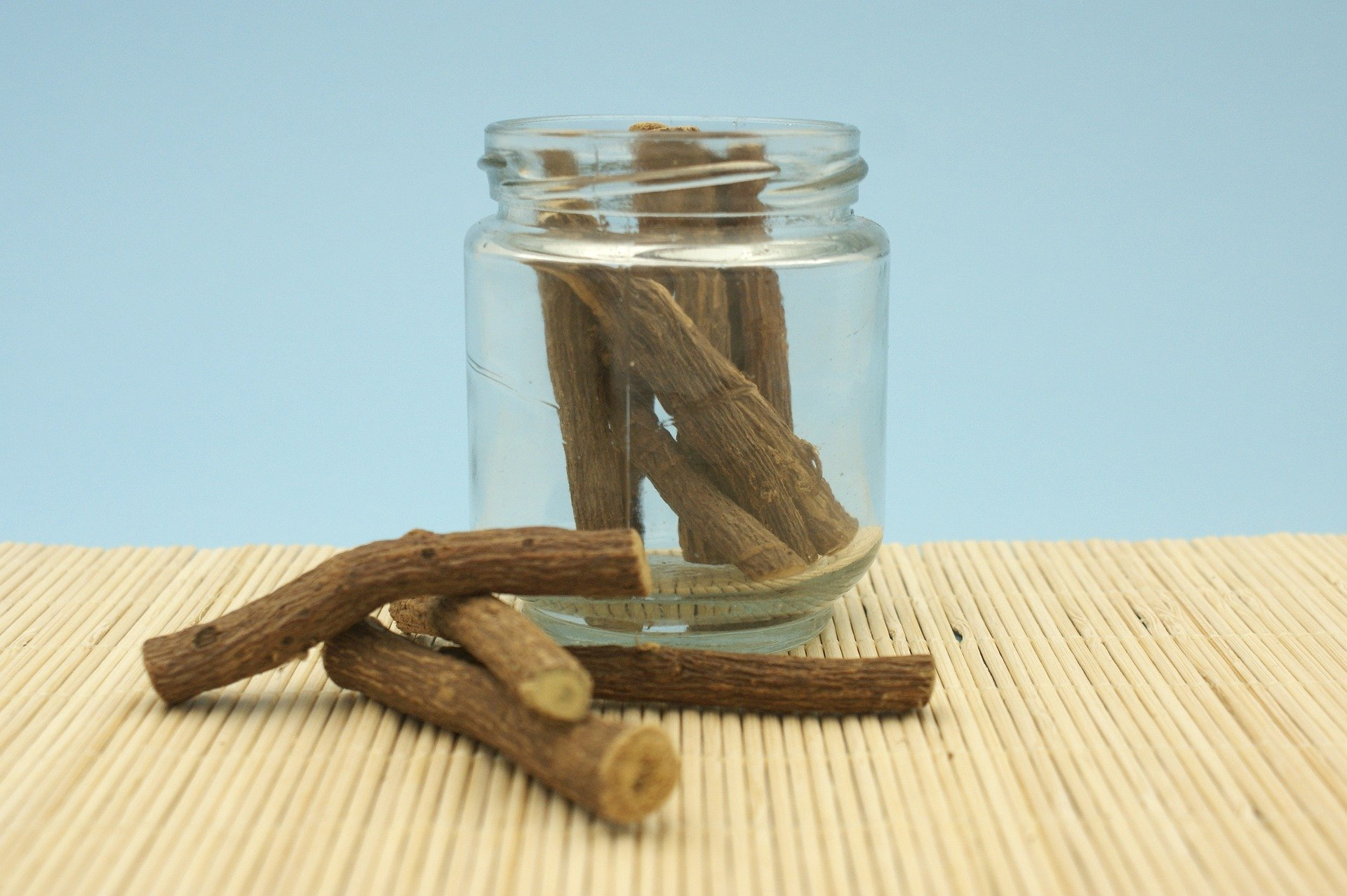 A photo of licorice root, which grows in Calabria, Italy