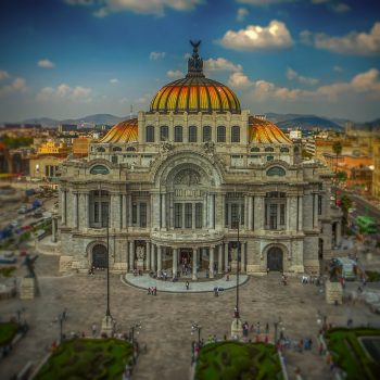Mexico City is full of gleaming buildings.
