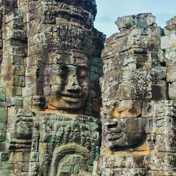 An ancient Cambodian monument.
