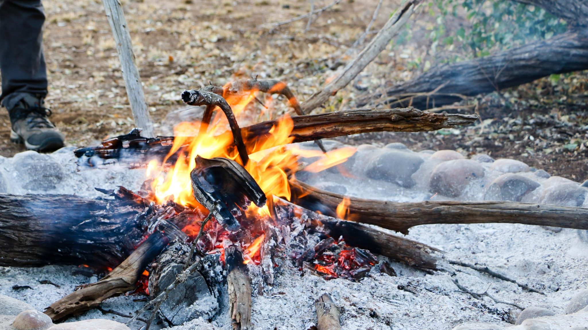 A campfire in Swaziland