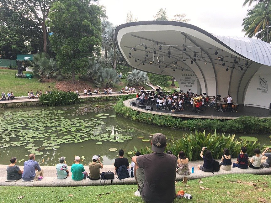 orchestra in the amphitheater