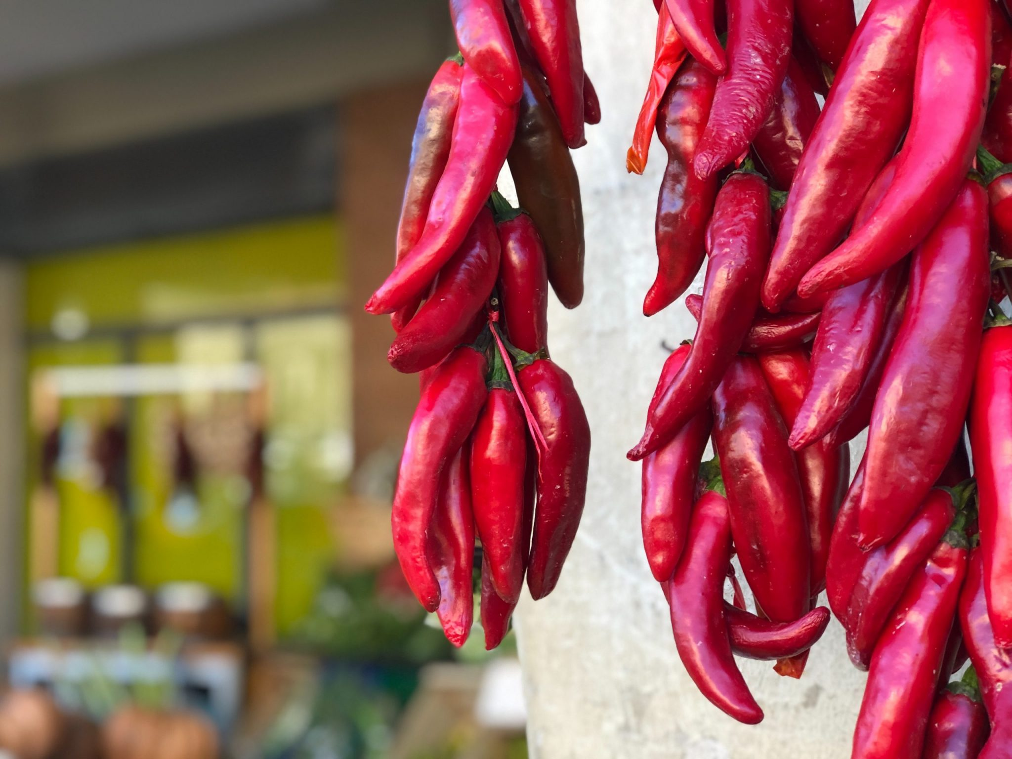 A photo of chilis from Sicily