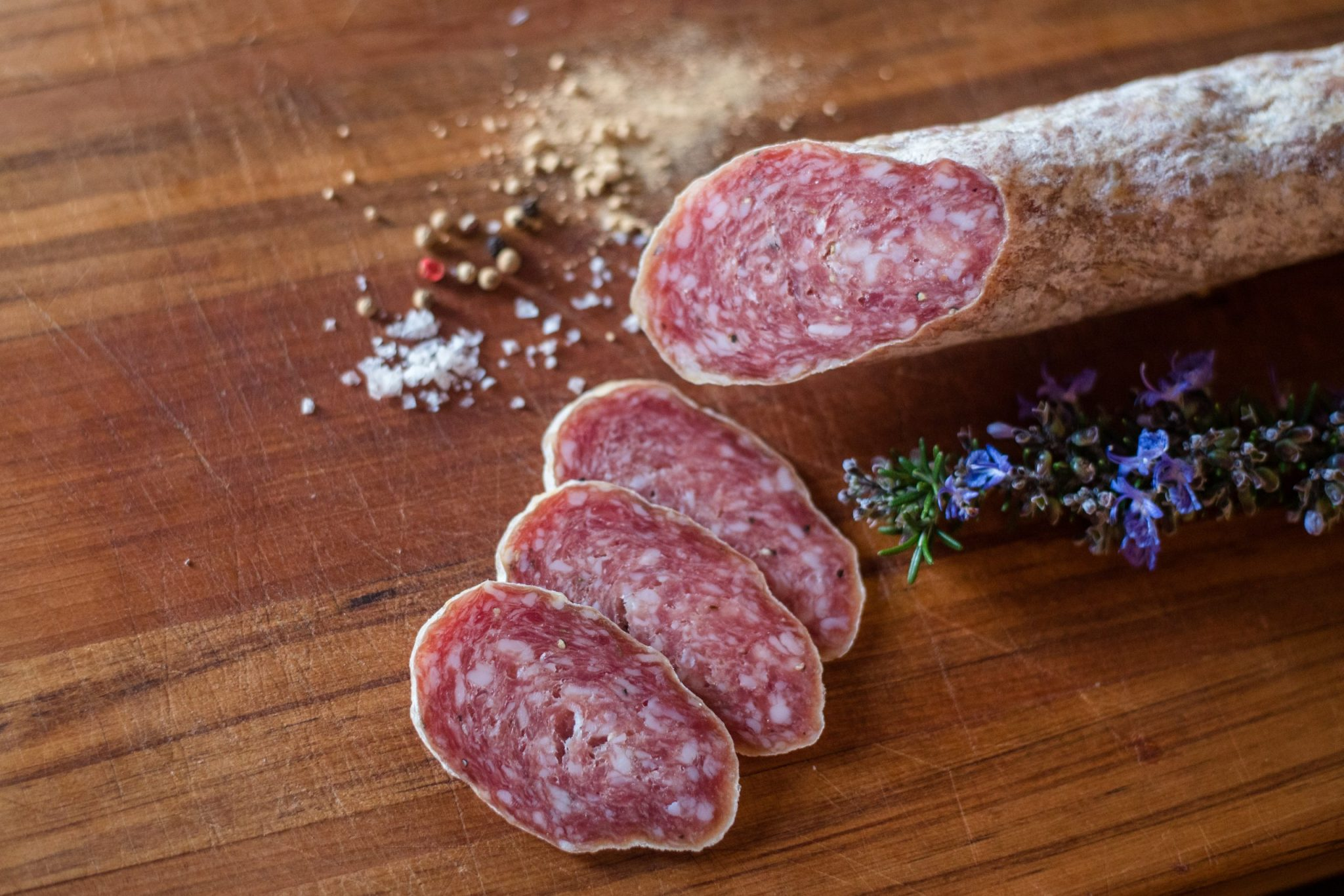 A photo of salami