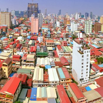 Phnom Penh from above.