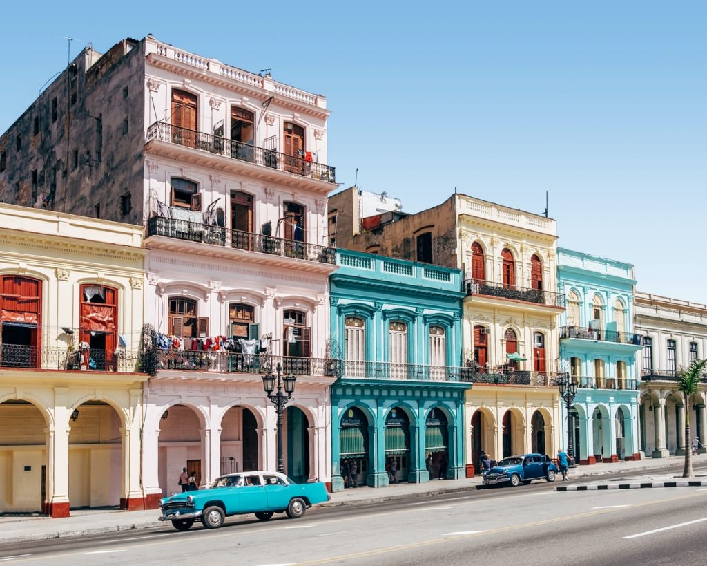 A photo of Havana's colorful buildings
