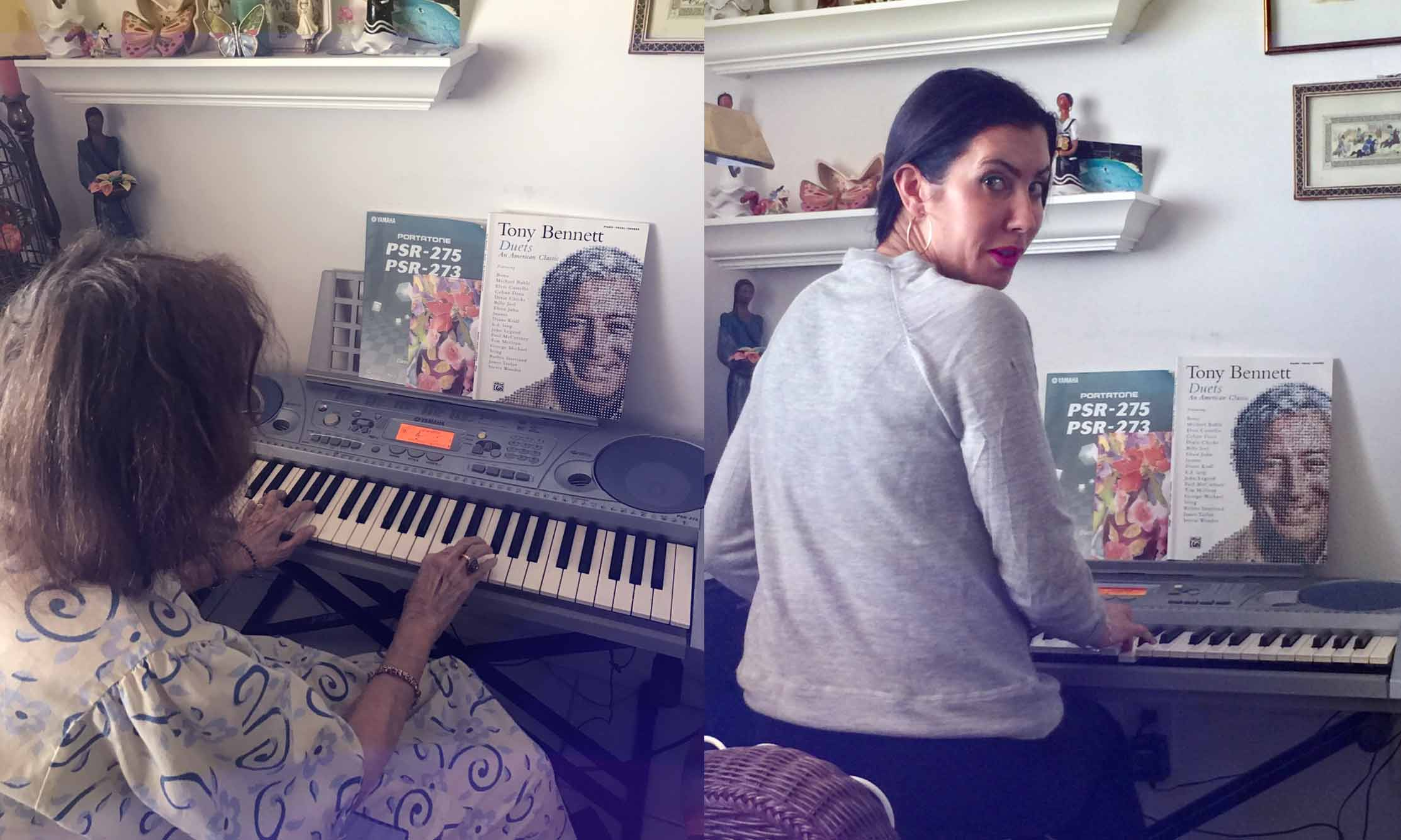 playing piano with my grandmother