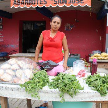 A shopkeep in Oaxaca