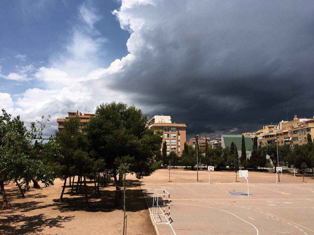 Stormy clouds in Spain.