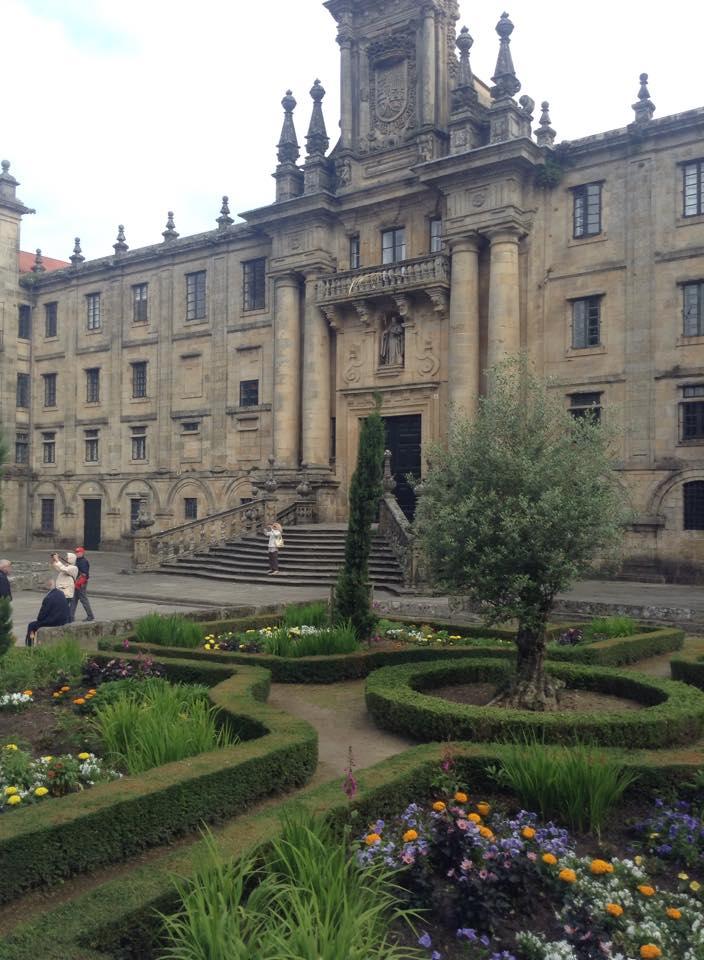 The outside of Santiago de Compostela