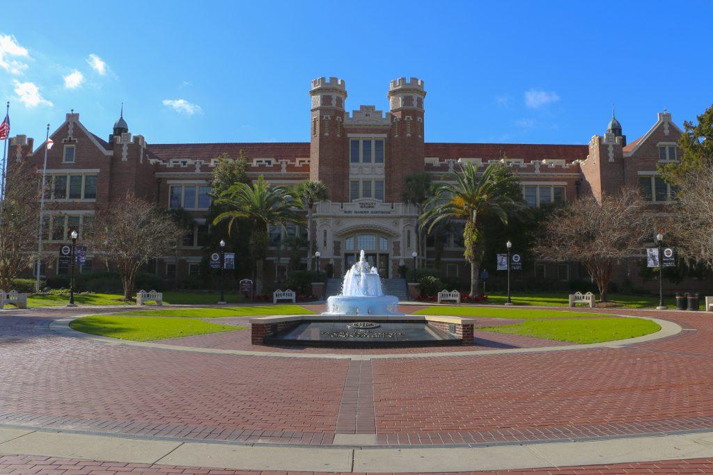 Tallahassee, Fl - Entrance At Florida State University's Westcott Plaza.
