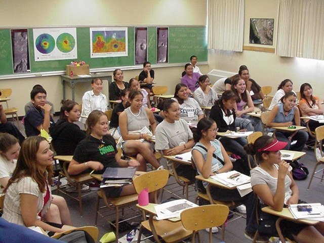 A classroom full of students in Spain. Spain is a popular destination to teach English abroad